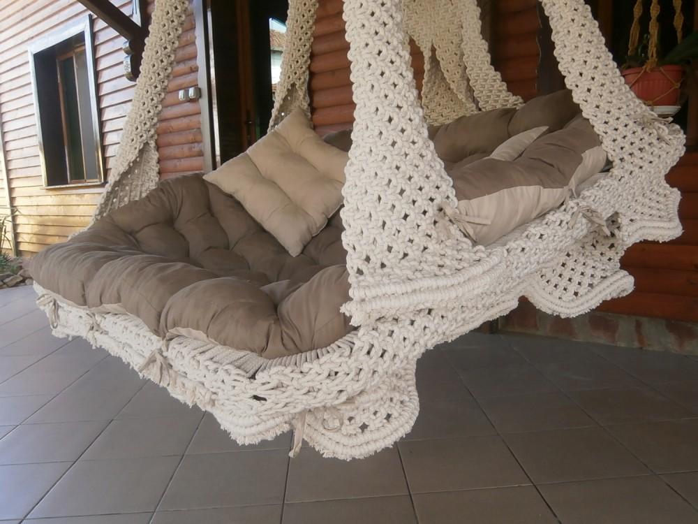 ПЛЕТЕНО ВИСЯЩО КАНАПЕ: DIEMA ROYAL - Висящи кресла