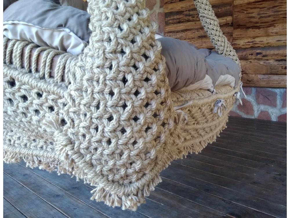 ПЛЕТЕНО ВИСЯЩО КАНАПЕ: WEED FIVE - Висящи кресла