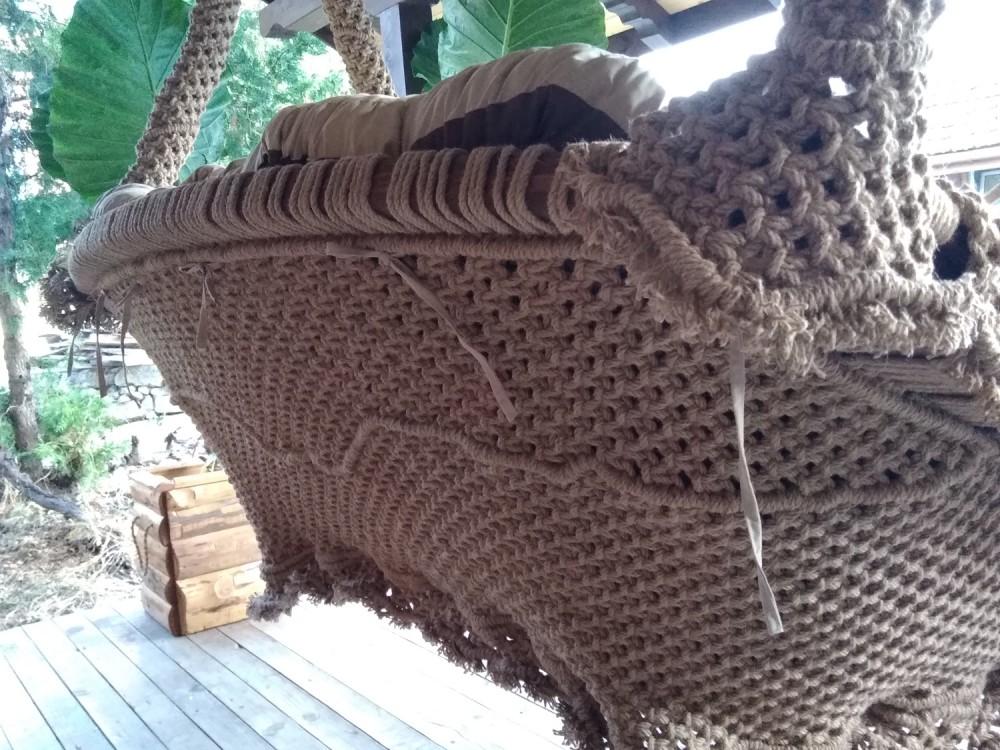 ПЛЕТЕНО ВИСЯЩО КАНАПЕ: WEED THREE - Висящи кресла